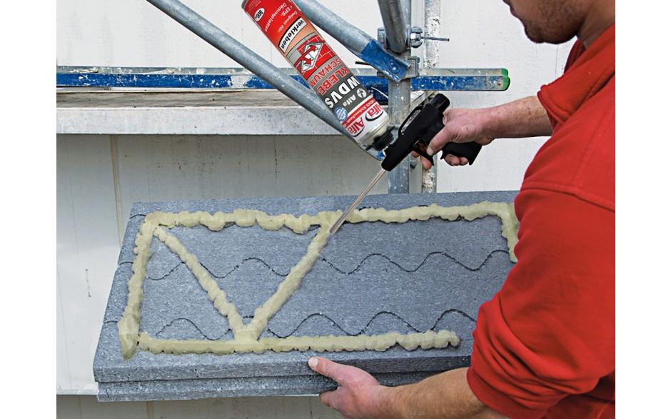 pu adhesive foam  applied   shape   secure adhesion