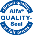 Alfa Quality-Seal at fair prices